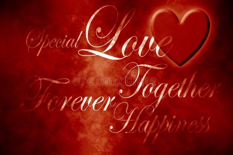 Mots de l'amour illustration libre de droits