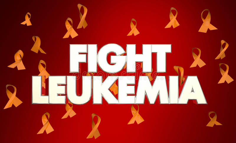 Mots de rubans de la maladie de Cancer de leucémie de combat illustration libre de droits