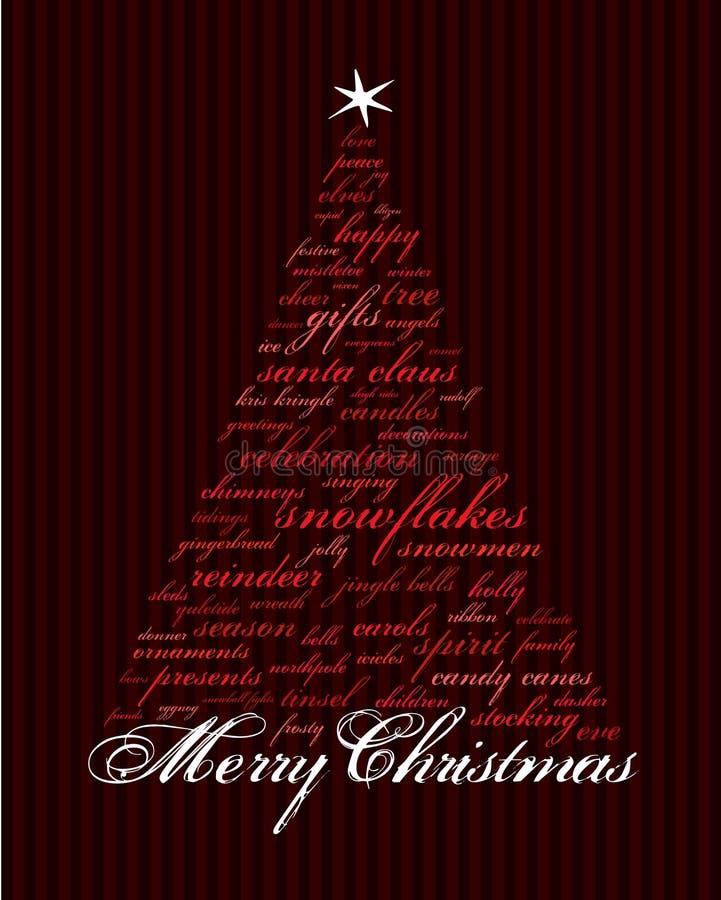 mots de vacances de Noël joyeux illustration stock