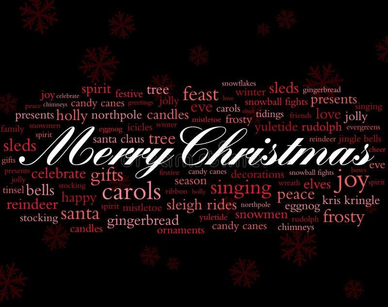 mots de vacances de Noël joyeux illustration libre de droits
