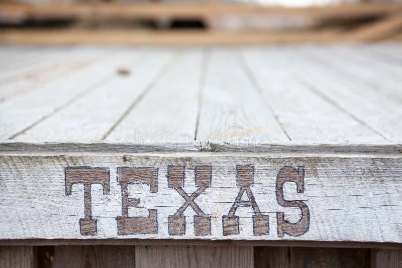 Mots du Texas de plat en bois photos stock