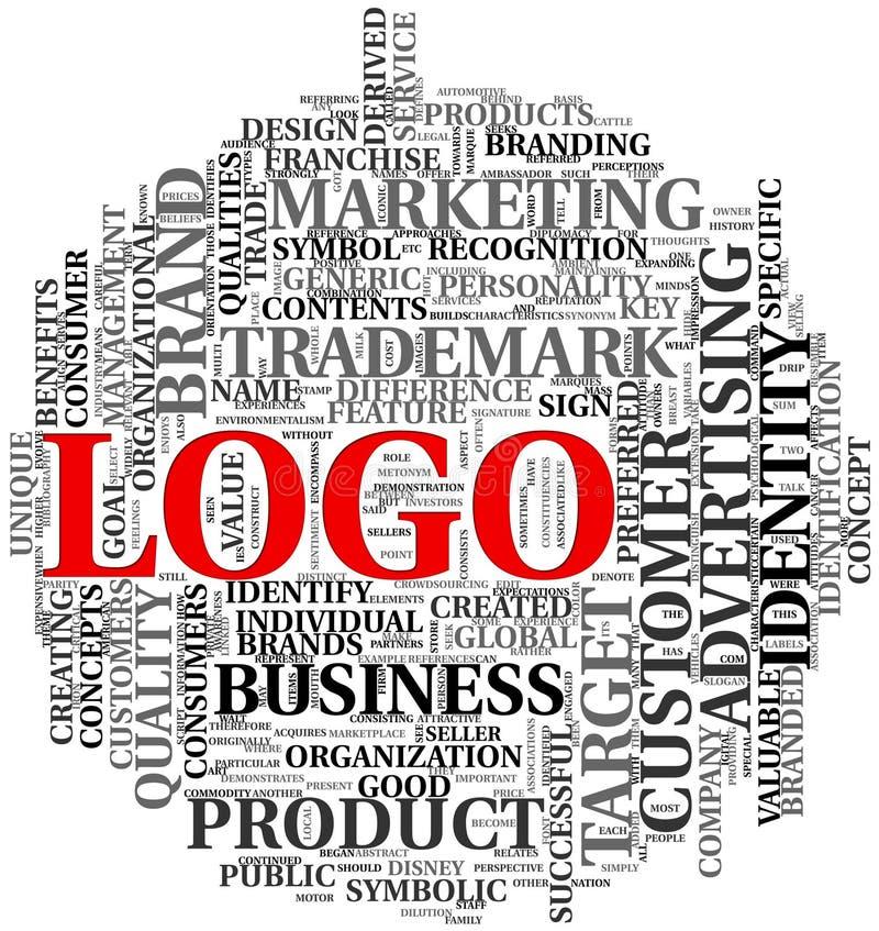 Mots relatifs de logo en nuage d'étiquette illustration de vecteur