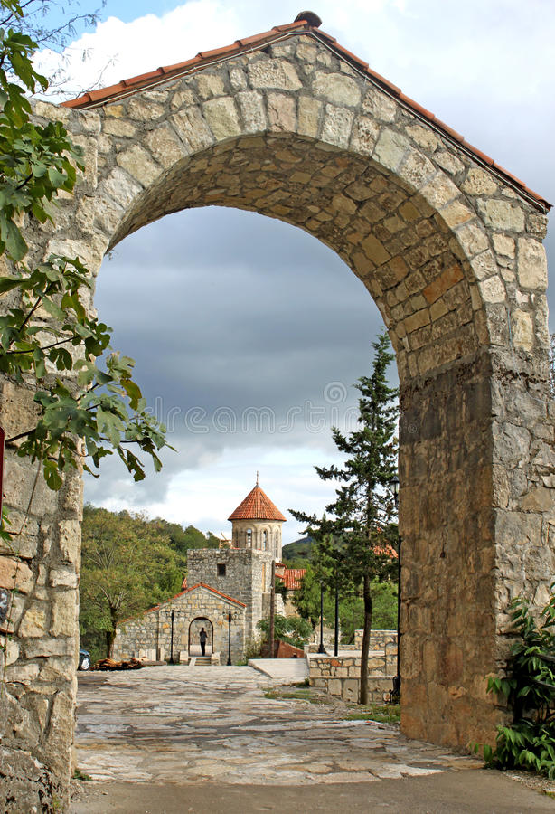 Motsameta monastery stock image