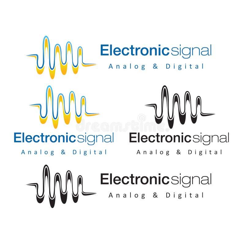 Motsvarighet Digital för elektronisk signal royaltyfri illustrationer