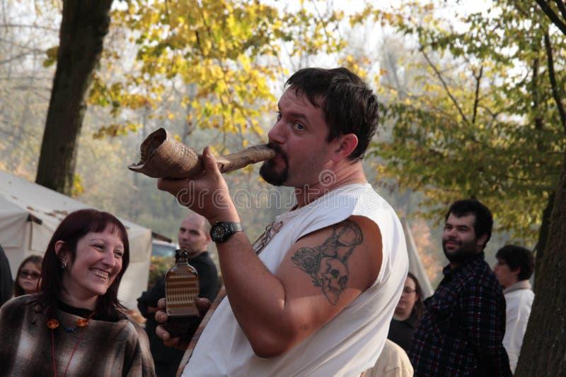 Motta Celtic Festival 2017- Historical reenactment stock images