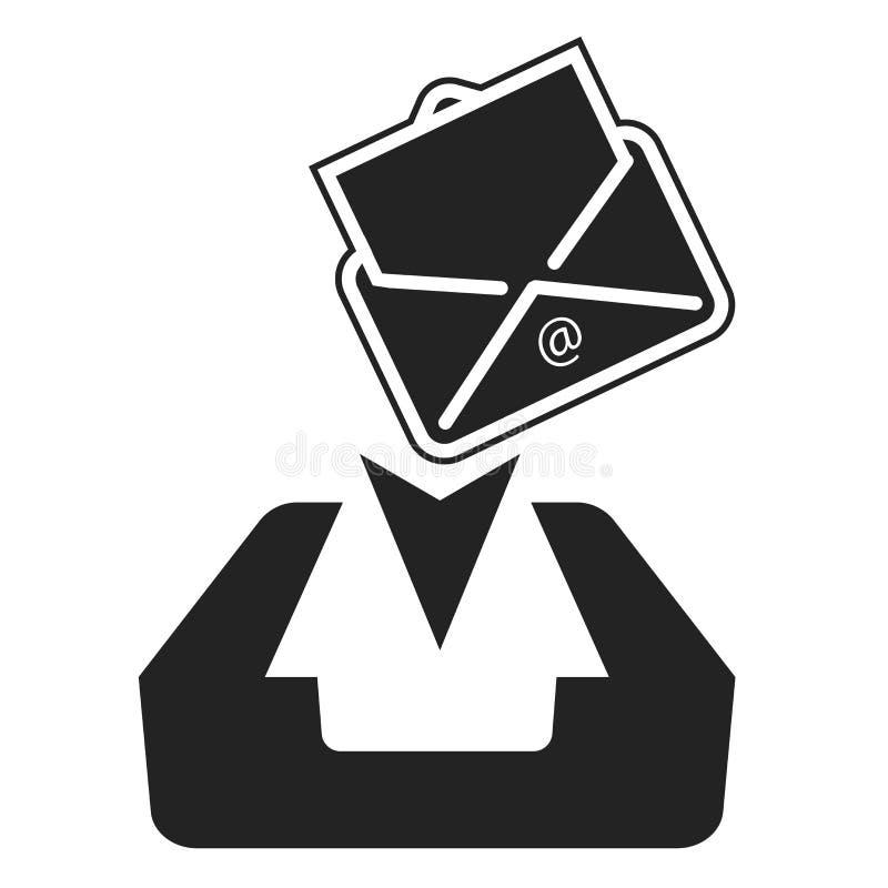 Motta symbolsvektortecknet, och symbolet som isoleras på vit bakgrund, mottar logobegrepp royaltyfri illustrationer