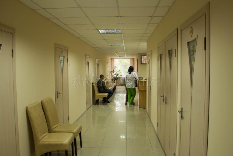 Mottagande i det nya ljuset för sjukhus royaltyfria foton