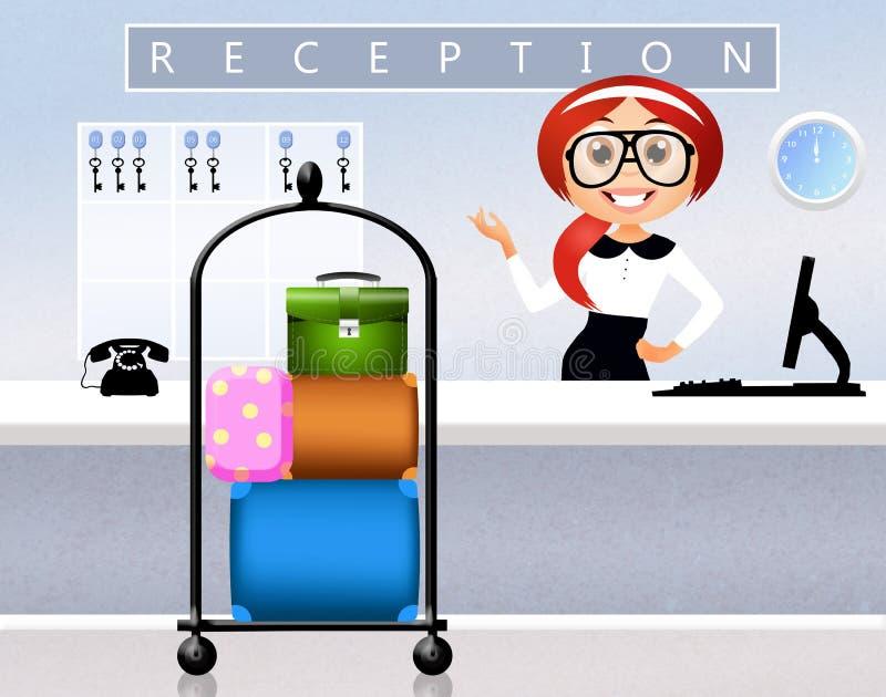 Mottagande i hotell vektor illustrationer