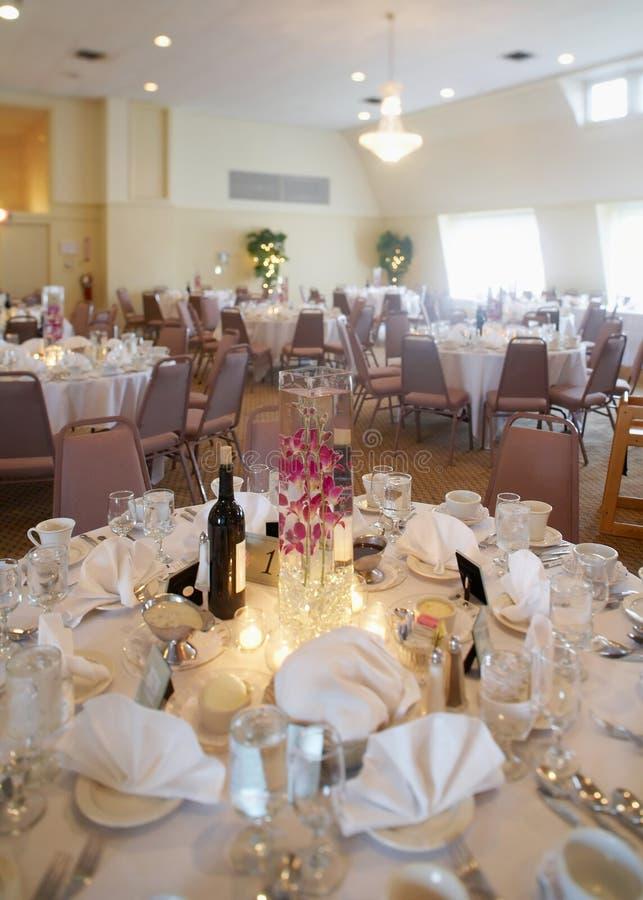 mottagandebröllop arkivfoton