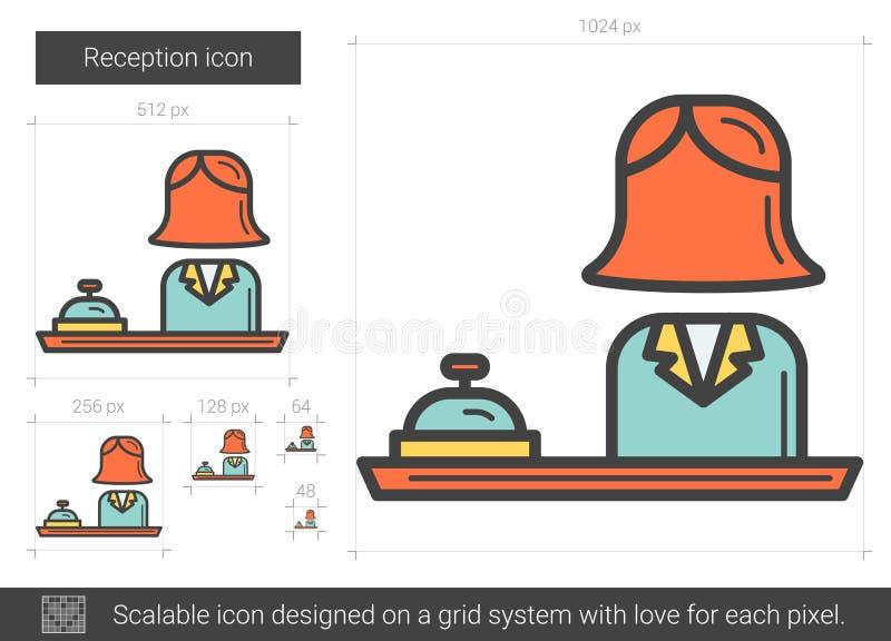 Mottagandelinje symbol vektor illustrationer