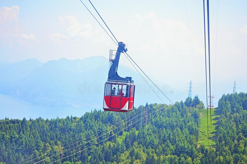 Mottarone Cable car Maggiore Lake Italy stock images