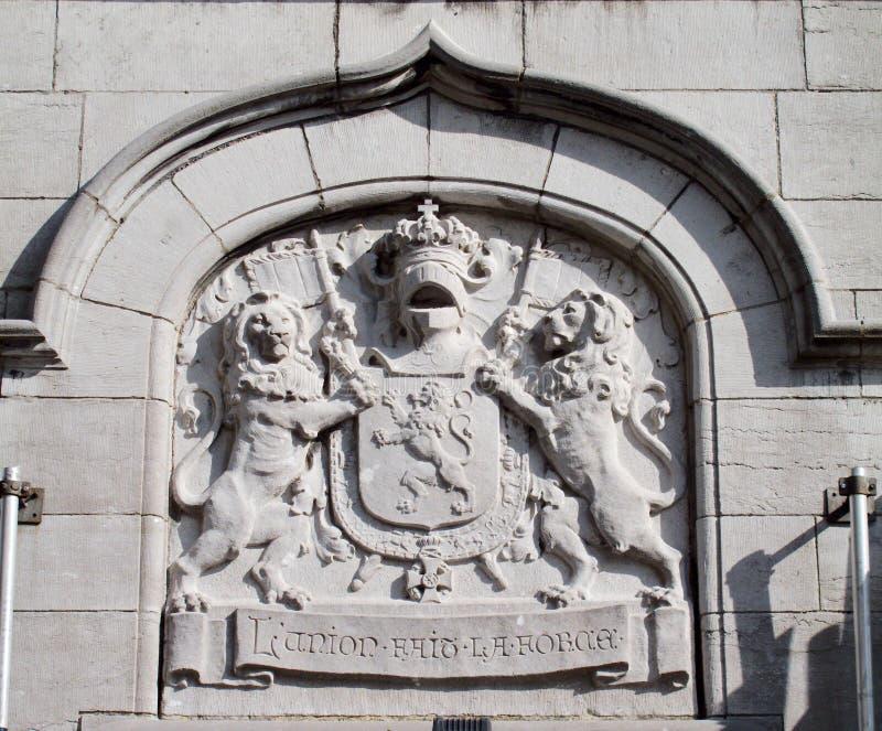 Motto av Belgien: Styrka för L'union faitla royaltyfria foton