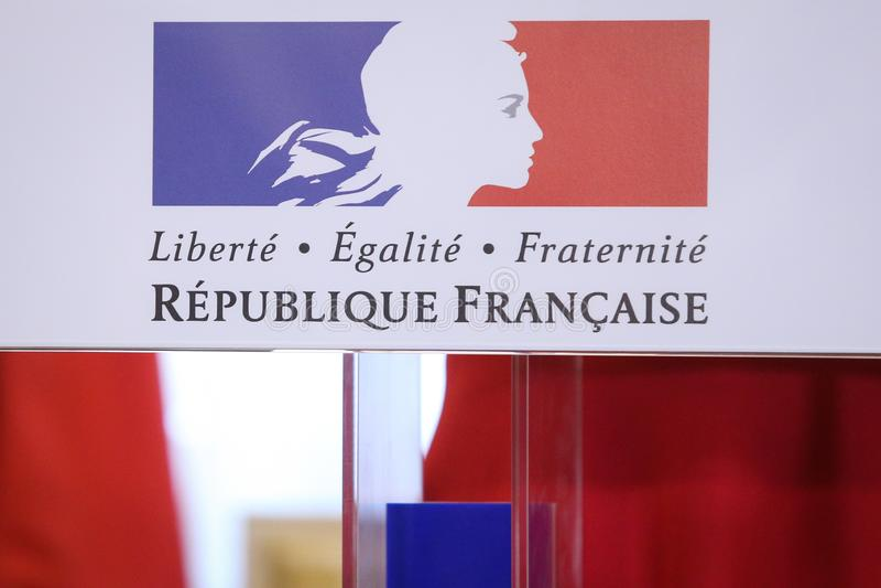 Motto av Republiken Frankrike fotografering för bildbyråer