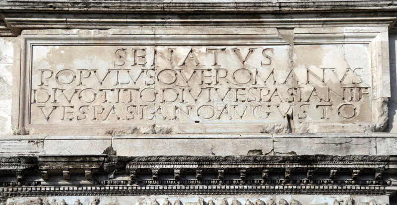 motto populusque Rzymu jest senatus romanus fotografia royalty free