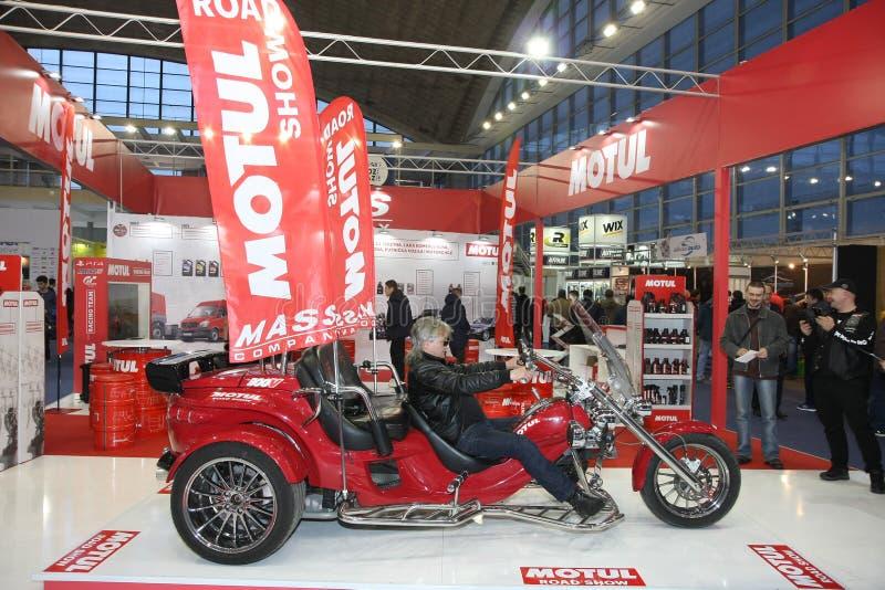 Motul на выставке автомобиля Белграда стоковое фото