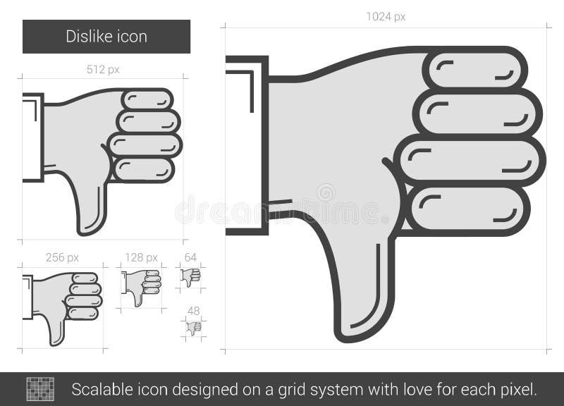 Motviljalinje symbol vektor illustrationer