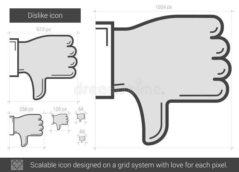Motviljalinje symbol stock illustrationer