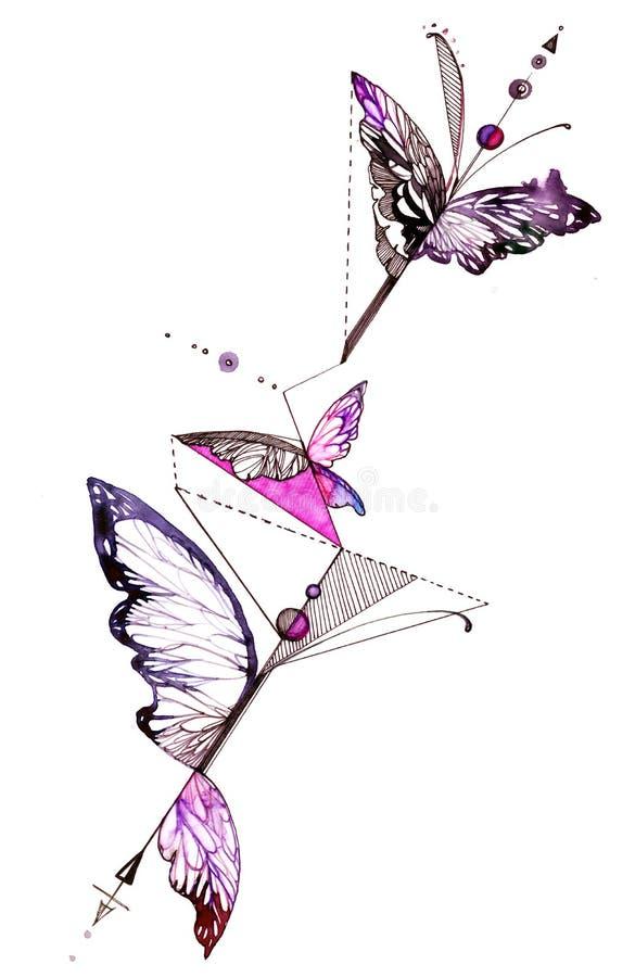 motyl abstrakcyjne royalty ilustracja