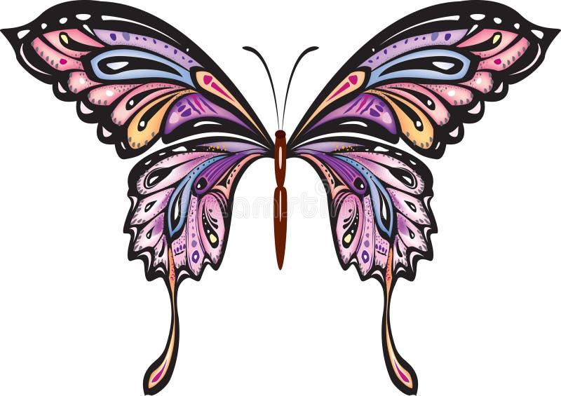 motyl dekoracyjny royalty ilustracja