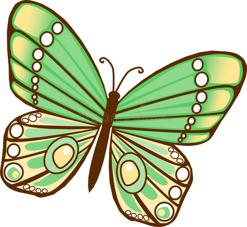 motyl green ilustracja wektor