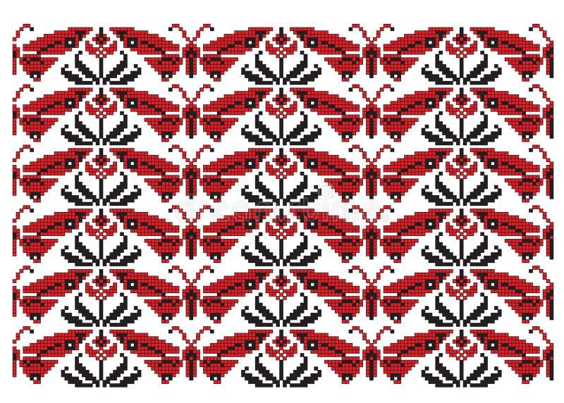 motyl haftuje tekstury ukrainian royalty ilustracja