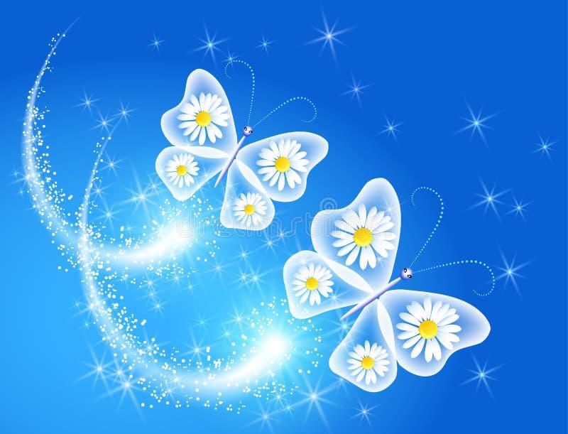 Motyl i royalty ilustracja
