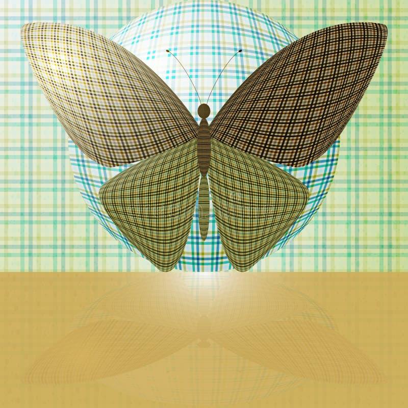Motyl na piłce ilustracji