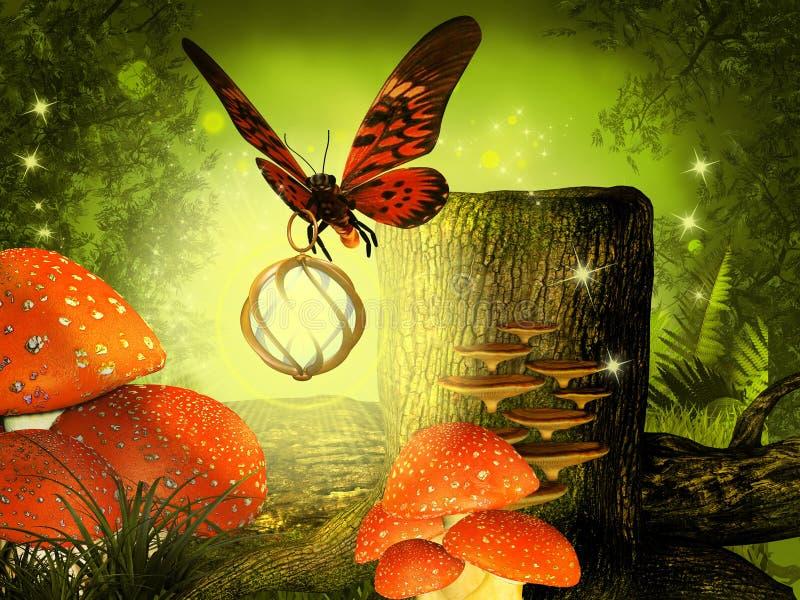 Motyl przynosi światło ilustracji