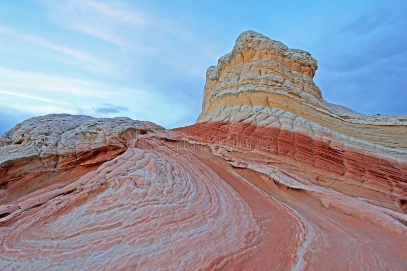 Motyl, rockowa formacja przy biel kieszenią, kojotów Buttes Południowy CBS, Paria jaru falez Vermillion pustkowie, Arizona obraz stock