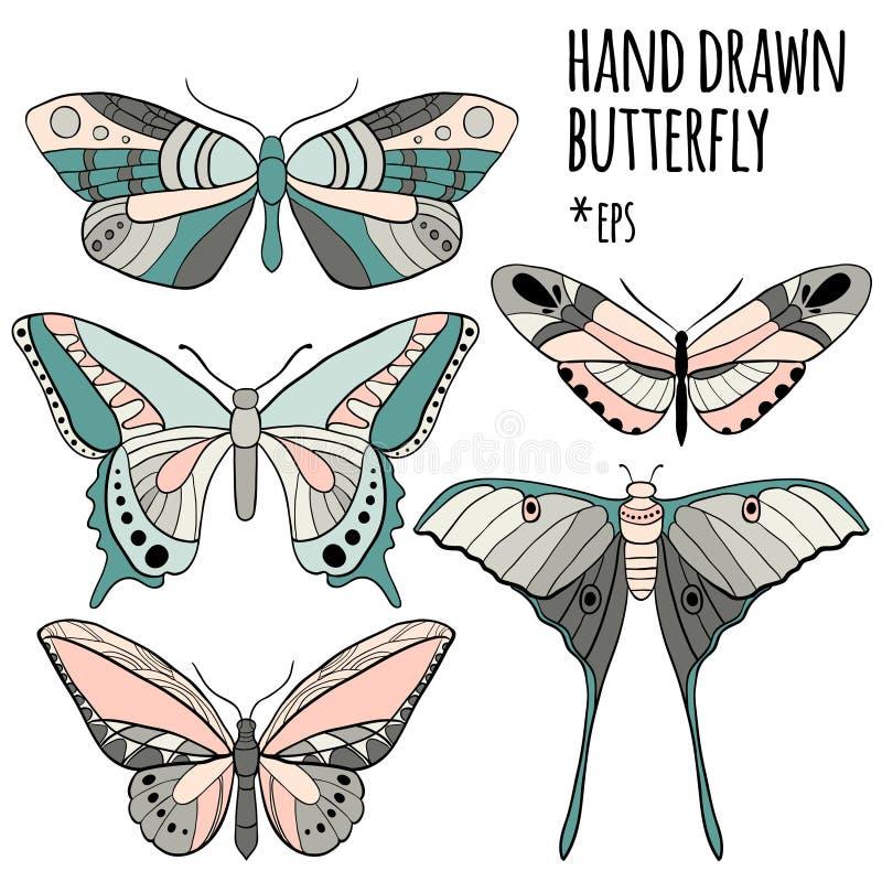 Motyl ustawiający: wektorowa kolekcja ilustracji