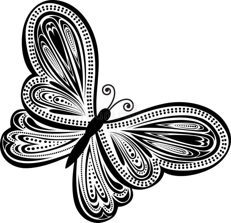 motyla abstrakcjonistyczny wektor ilustracja wektor