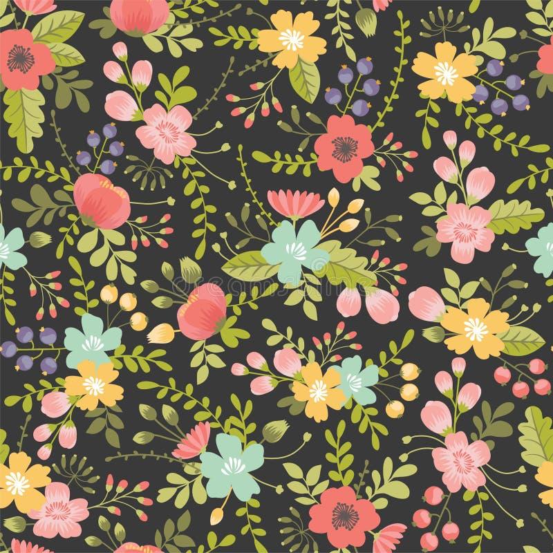 motyla opadowy kwiecisty kwiatów serca wzoru kolor żółty royalty ilustracja