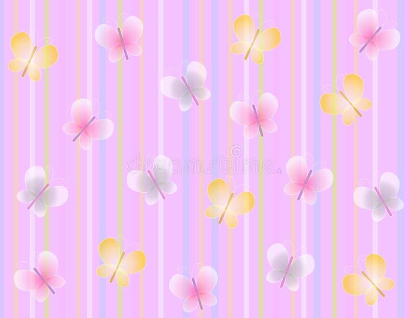motyla wiosny różowego tło royalty ilustracja