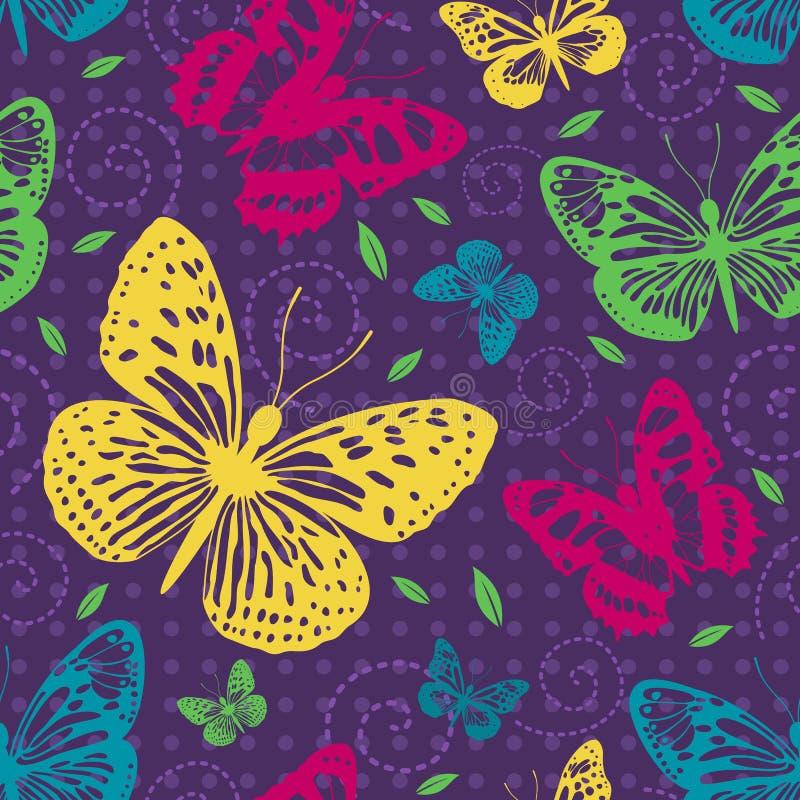 motyle deseniują bezszwowego ilustracji