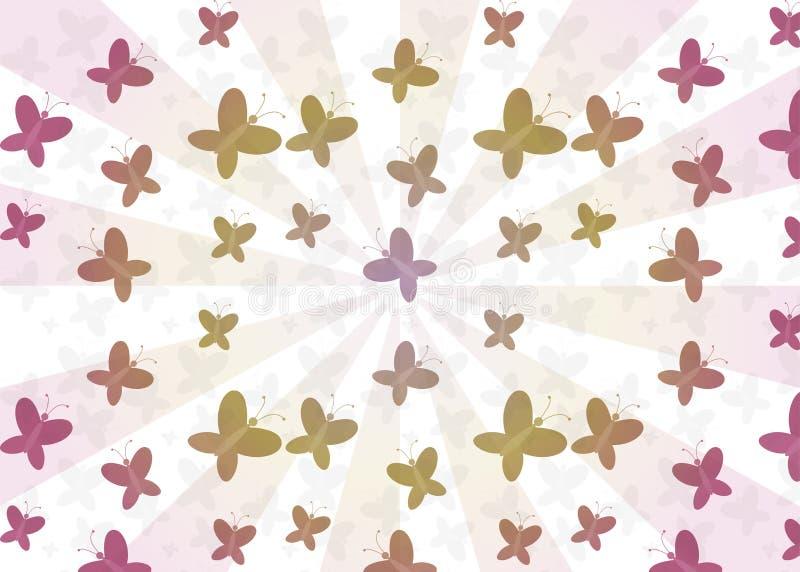 motyle deseniują bezszwowego obraz stock