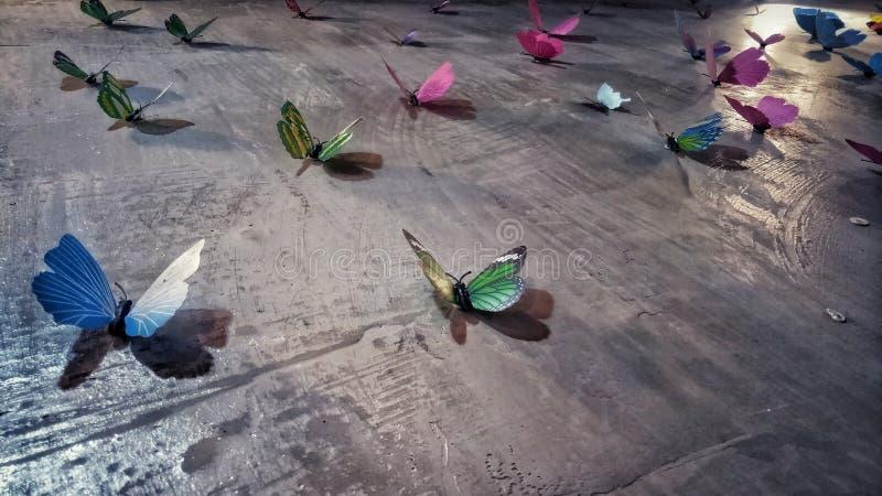 Motyle na ścianach domu zdjęcia stock