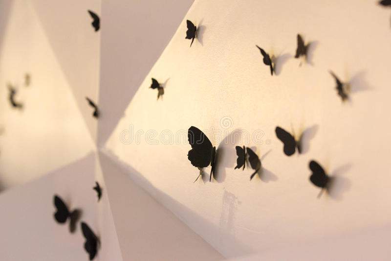 Motyle na ścianie obrazy royalty free