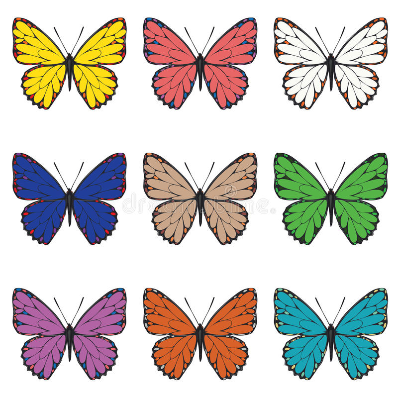 Download Motyle odłogowania ilustracja wektor. Ilustracja złożonej z blank - 53782720