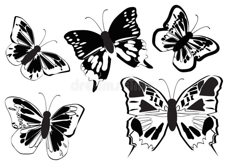 motyle położenie ilustracja wektor