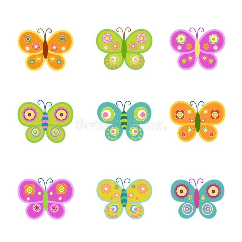 Download Motyle retro ilustracja wektor. Ilustracja złożonej z pluskwa - 53776813