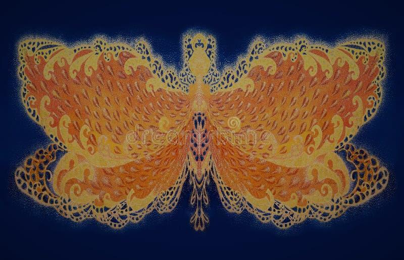Motyle złote zdjęcia royalty free