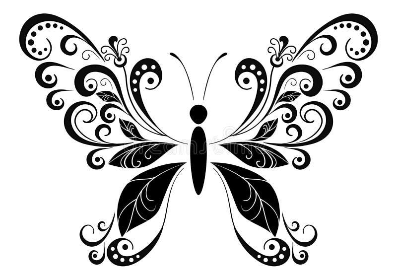 Motyli Czarny piktogram ilustracja wektor