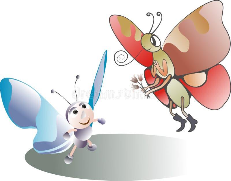 Download Motyli kochankowie ilustracja wektor. Ilustracja złożonej z zawijas - 13326935