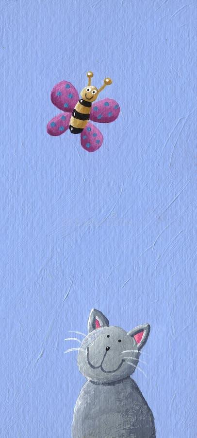 motyli kot royalty ilustracja