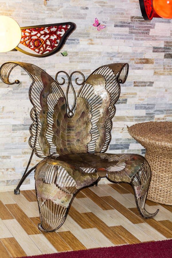 Motyli krzesło zdjęcie royalty free
