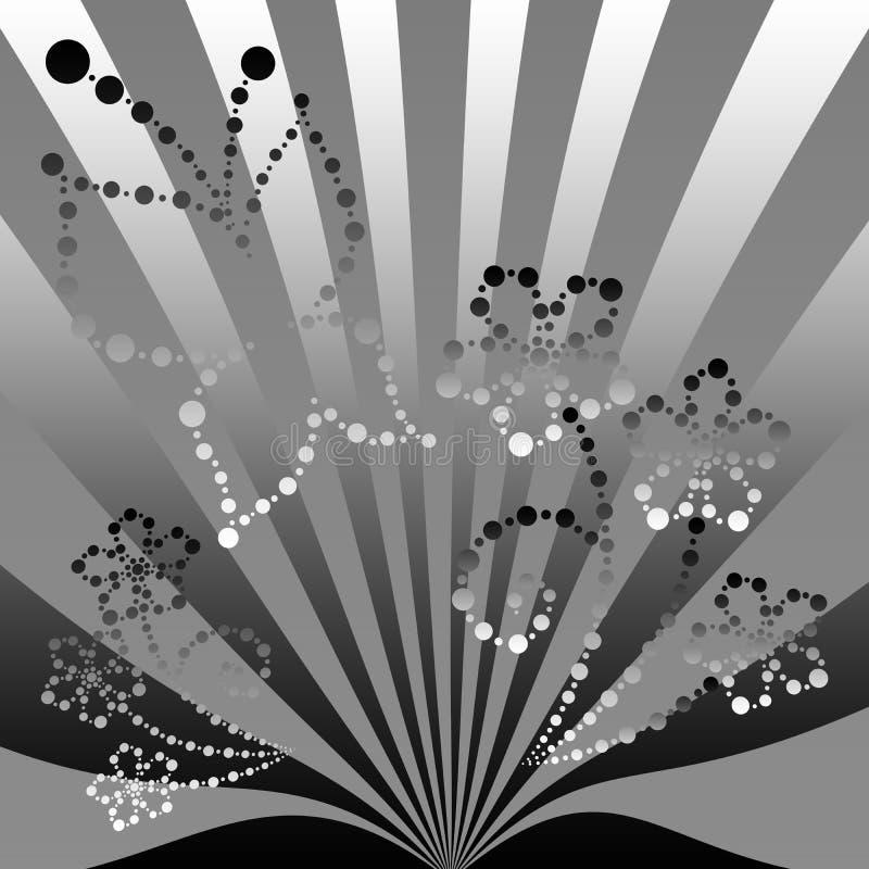 Download Motyli kwiat ilustracji. Ilustracja złożonej z stal, liść - 13342914