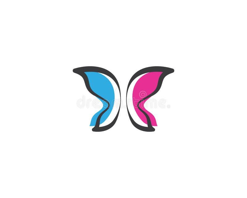 Motyli loga szablon ilustracji