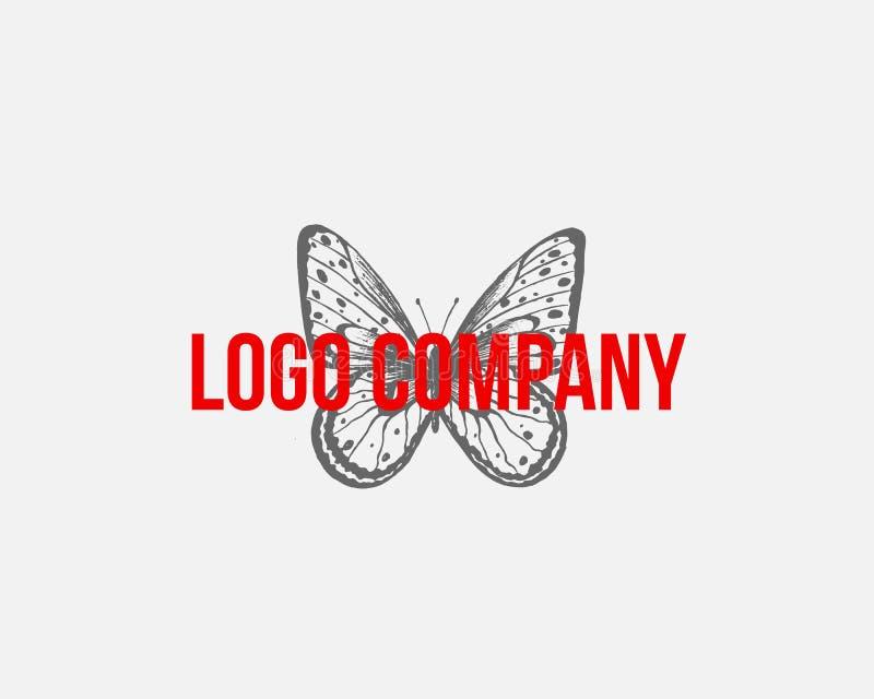 Motyli loga szablon również zwrócić corel ilustracji wektora Elegancki motyli logo dla kobiecego biznesu ilustracji