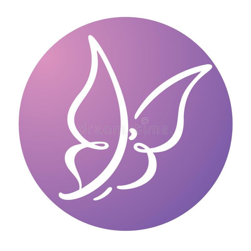 Motyli loga szablon, wektorowa ilustracja ilustracji