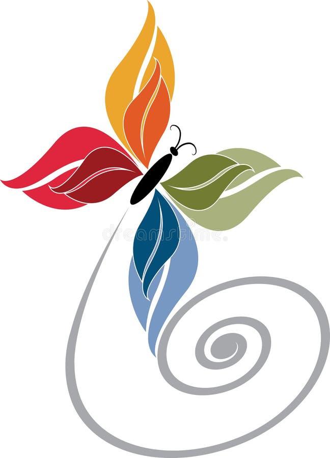 Motyli logo royalty ilustracja